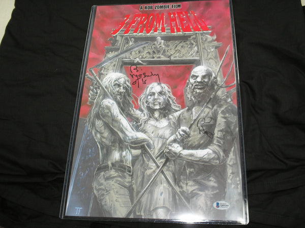SID HAIG & BILL MOSELEY Signed 3 From Hell 11x17 Poster Autograph BAS BECKETT COA - HorrorAutographs.com