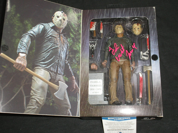 TED WHITE Signed NECA Ultimate Jason Voorhees Part 4 Figure Autograph BAS BECKETT COA - HorrorAutographs.com