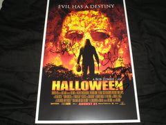 Danielle Harris Scout Taylor Compton Kristina Klebe 3X Signed 11x17 RZ Halloween Poster