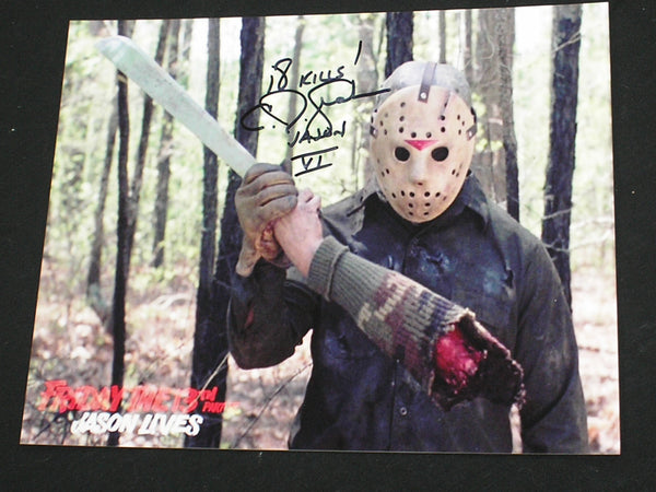 CJ GRAHAM Signed JASON VOORHEES 8X10 Photo Autograph Friday the 13th PART 6 B - HorrorAutographs.com