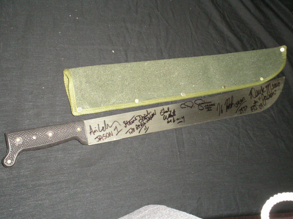 6X JASON VOORHEES Actors Signed MACHETE Friday the 13th Kane Hodder Steve Dash BAS COA - HorrorAutographs.com