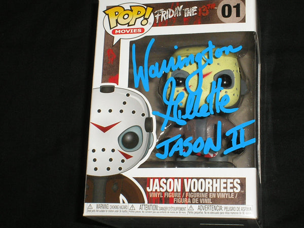 WARRINGTON GILLETTE Signed JASON Voorhees FUNKO POP Figure Autograph Friday the 13th Part 2 - HorrorAutographs.com