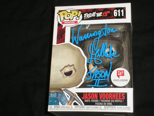 WARRINGTON GILLETTE Signed JASON Voorhees WALGREENS EXCLUSIVE FUNKO POP Figure Autograph Friday the 13th Part 2 - HorrorAutographs.com