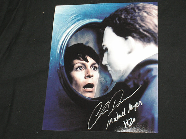 CHRIS DURAND Michael Myers Signed 8x10 Photo Halloween H2O Autograph A - HorrorAutographs.com