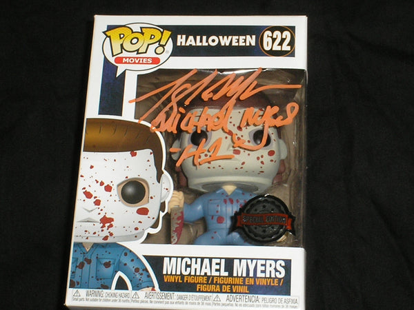 TONY MORAN Signed Michael Myers BLOODY Special Edition Funko Pop Figure HALLOWEEN - HorrorAutographs.com