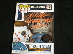 TONY MORAN Signed Michael Myers BLOODY Special Edition Funko Pop Figure HALLOWEEN