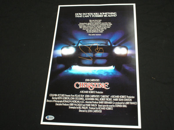 JOHN CARPENTER Signed CHRISTINE 11x17 Movie Poster Autograph BECKETT BAS COA - HorrorAutographs.com