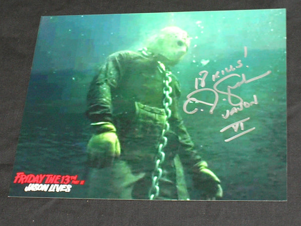 CJ GRAHAM Signed JASON VOORHEES 8X10 Photo Autograph FRIDAY the 13th PART 6 C - HorrorAutographs.com