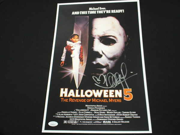 DANIELLE HARRIS Signed Halloween 5 11x17 Movie Poster Autograph Scream Queen JSA COA