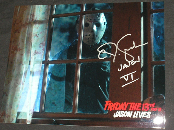 CJ GRAHAM Signed JASON VOORHEES 8X10 Photo Autograph FRIDAY the 13th PART 6 D