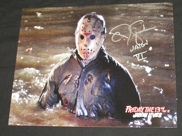 CJ GRAHAM Signed JASON VOORHEES 8X10 Photo Autograph FRIDAY the 13th PART 6 F