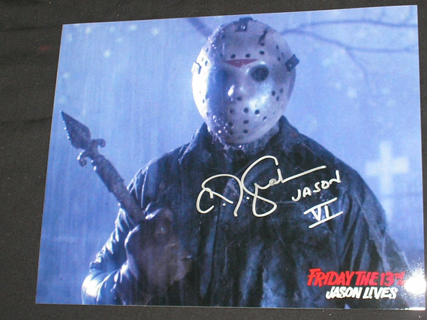 CJ GRAHAM Signed JASON VOORHEES 8X10 Photo Autograph FRIDAY the 13th PART 6 H