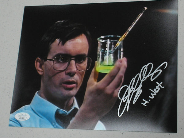 JEFFREY COMBS Signed Re-Animator 8x10 Photo Herbert West Autograph JSA COA A