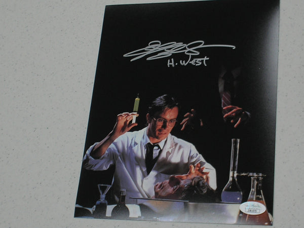 JEFFREY COMBS Signed Re-Animator 8x10 Photo Herbert West Autograph JSA COA C