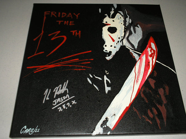 KANE HODDER Signed Original Painting Jason Voorhees Friday the 13th A - HorrorAutographs.com