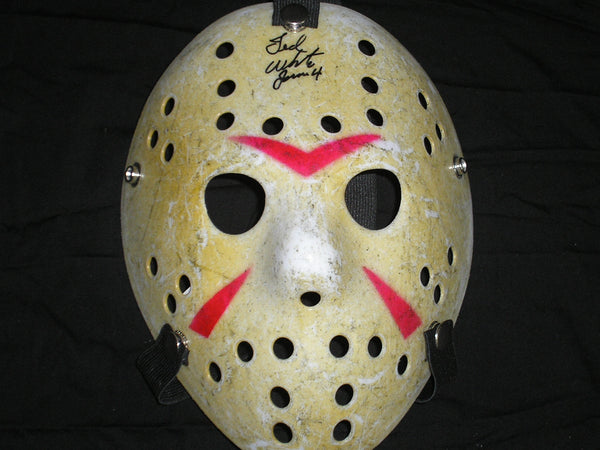 TED WHITE Signed Hockey Mask Jason Voorhees Friday the 13th Part 4 - HorrorAutographs.com