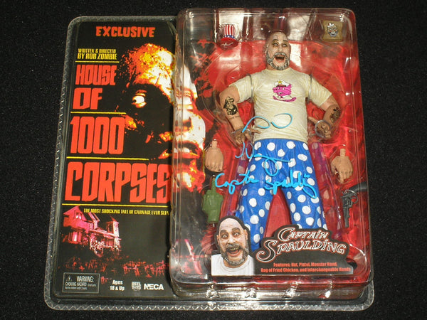 Sid Haig signed Captain Spaulding NECA Figure The Devils Rejects House 1,000 Corpses - HorrorAutographs.com