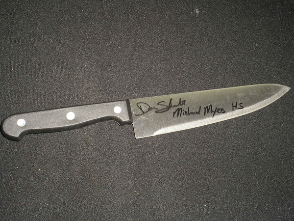 Don Shanks Signed Steel Chefs Knife Michael Myers Halloween 5 - HorrorAutographs.com