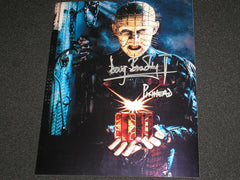 DOUG BRADLEY Signed Hellraiser Pinhead 8x10 Photo Autograph Horror Auto A