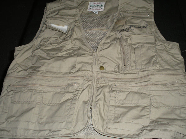 GEORGE ROMERO Signed Field & Stream Outdoor VEST Zombie Writer Director Autograph Exclusive RARE - HorrorAutographs.com