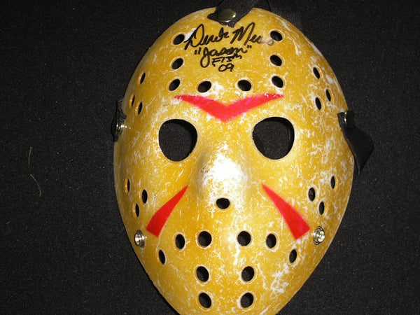 DEREK MEARS Signed Hockey Mask Jason Voorhees Friday the 13th 2009 - HorrorAutographs.com