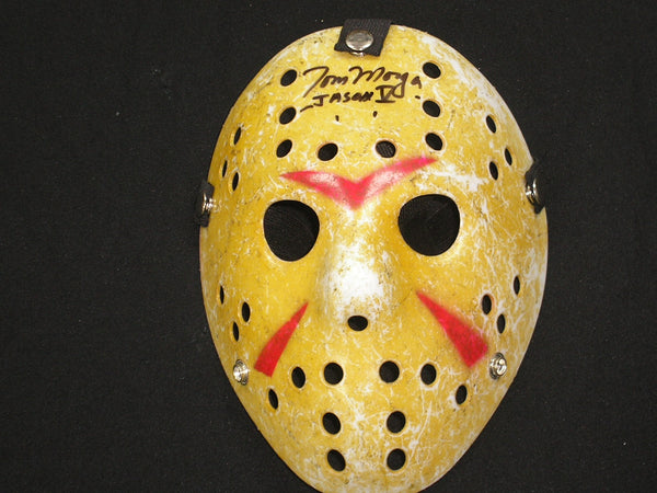 TOM MORGA Signed Hockey Mask Jason Voorhees Friday the 13th Part 5