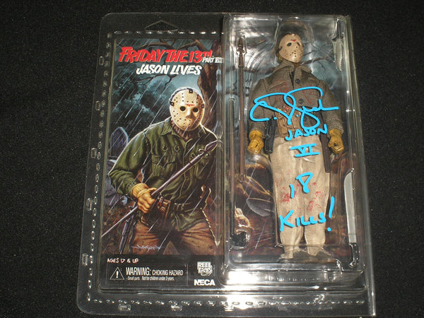 CJ GRAHAM Signed Jason Voorhees Part 6 NECA FIGURE Autograph Friday the 13th B - HorrorAutographs.com