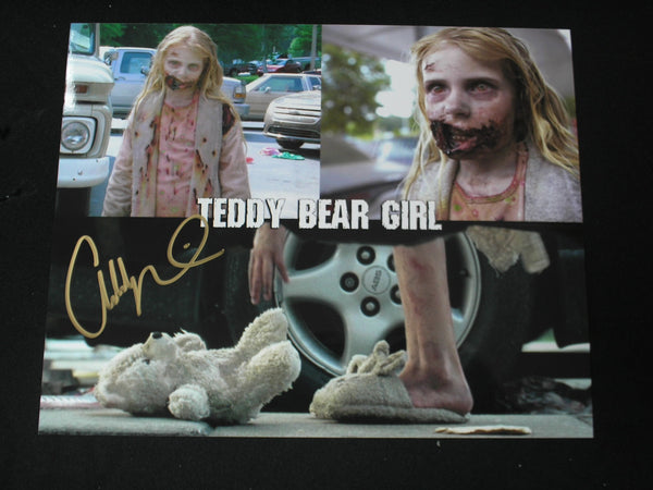 Addy Miller Signed 8x10 Custom Photo Summer Teddy Bear Girl The Walking Dead - HorrorAutographs.com