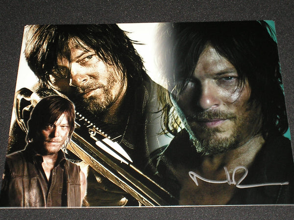 NORMAN REEDUS Signed 11x14 Custom Metallic Photo Daryl Dixon Autographed The Walking Dead B - HorrorAutographs.com