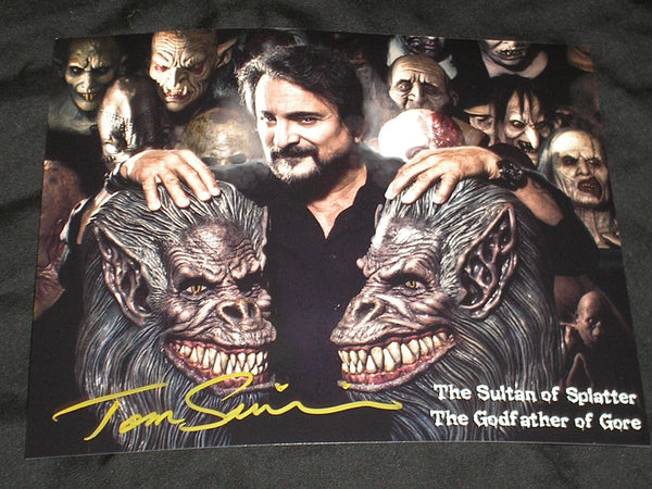 TOM SAVINI Signed Custom 8x10 Photo Sultan of Splatter Autographed Rare