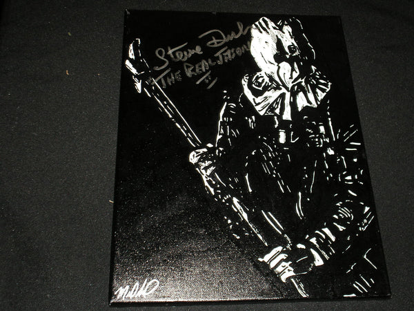 STEVE DASH Signed Original 11x14 Painting Jason Voorhees Friday the 13th Part 2 Autograph - HorrorAutographs.com