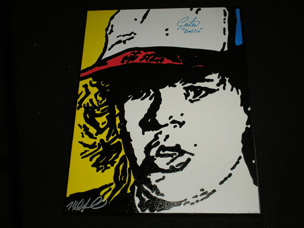 GATEN MATARAZZO Signed Dustin ORIGINAL PAINTING Stranger Things Autograph A
