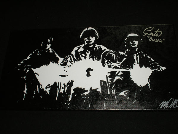 GATEN MATARAZZO Signed Dustin ORIGINAL PAINTING Stranger Things Autograph B - HorrorAutographs.com
