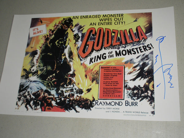 HARUO NAKAJIMA Signed GODZILLA King of the Monsters 11x17 Movie Poster Autograph