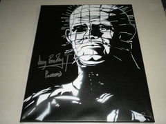 DOUG BRADLEY Signed PINHEAD Original POP ART PAINTING Autograph HELLRAISER RARE