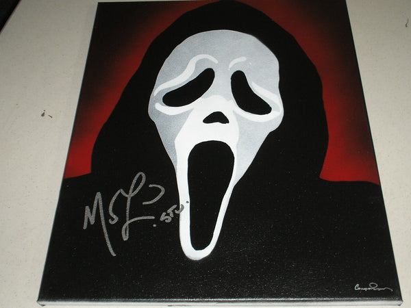 MATTHEW LILLARD Signed Original POP ART PAINTING Autograph Ghostface Scream Rare - HorrorAutographs.com