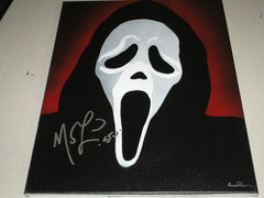 MATTHEW LILLARD Signed Original POP ART PAINTING Autograph Ghostface Scream Rare