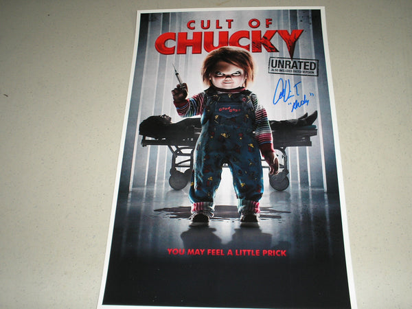 ALEX VINCENT Signed Cult of Chucky 11x17 Movie Poster Autograph Child's Play Franchise - HorrorAutographs.com