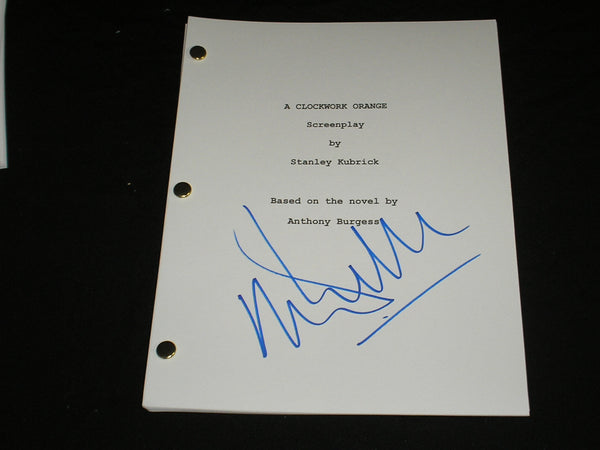 MALCOLM McDowell Signed A Clockwork Orange Full SCRIPT Autographed RARE
