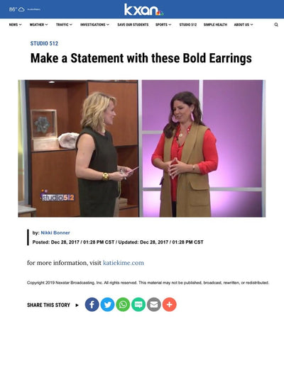 KXAN Studio 512 | Make a Statement with these Bold Earrings | October 2017