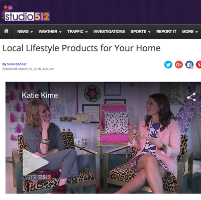 KXAN Studio 512 | Local Lifestyle Products for Your Home | March 2016