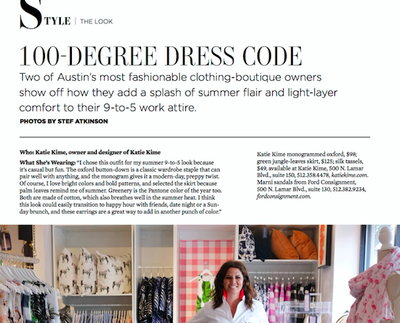 Austin Woman | 100-Degree Dress Code | July 2017