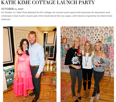 Tribeza | Katie Kime Cottage Launch Party | October 2017