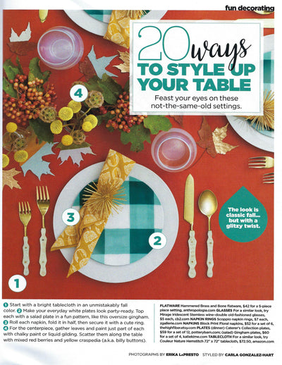 HGTV Magazine | 20 Ways to Style Up Your Table | November 2017