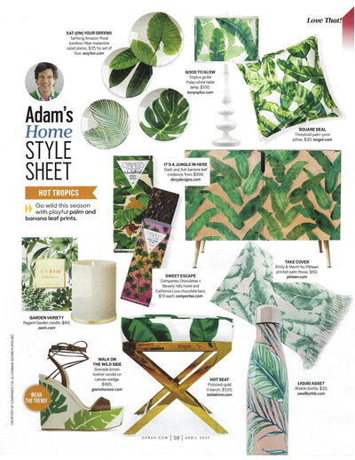The Oprah Magazine | Adam's Home Style Sheet | April 2017