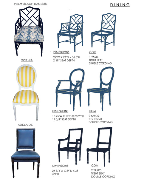 Katie Kime Dining Chairs COM