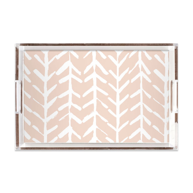 Lucite Trays Blush / 11X17 Arrows Lucite Tray