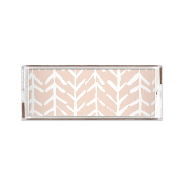 Lucite Trays Blush / 11X4 Arrows Lucite Tray