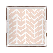 Lucite Trays Blush / 12x12 Arrows Lucite Tray
