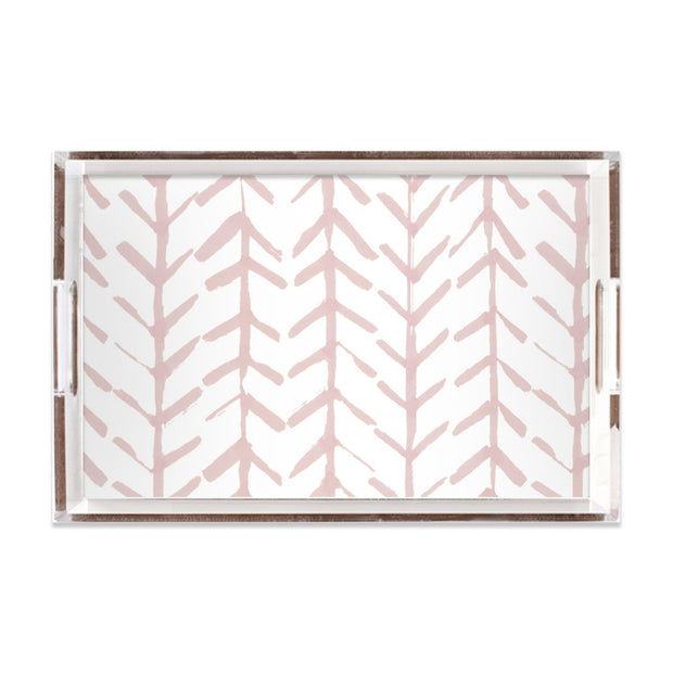Lucite Trays Coral / 11X17 Arrows Lucite Tray